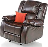Royal Oak Venus Single Seater Recliner Cum Rocker (Brown)