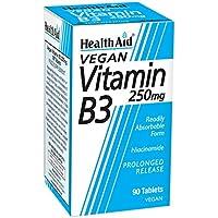 Vitamin B3 (Niacinamide) 250mg S/R (verz. Freisetzung) 90 Tabl.