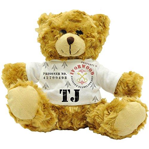 TJ Eigentum der Ivorwood Correctional Facility, ursprüngliche Bezeichnung Prisoner Plüsch-Teddybär (22 cm)