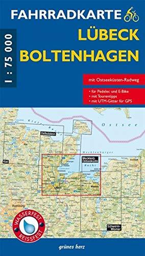 Fahrradkarte Lübeck, Boltenhagen: Mit Ostseeküsten-Radweg. Maßstab 1:75.000. Wasser- und reißfest. (Fahrradkarten)