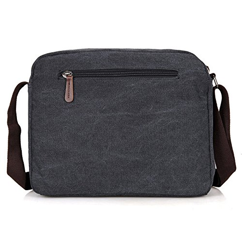 Meoaeo Mann Satchel Bag Freizeitaktivitäten Canvas Bag Canvas Tasche black