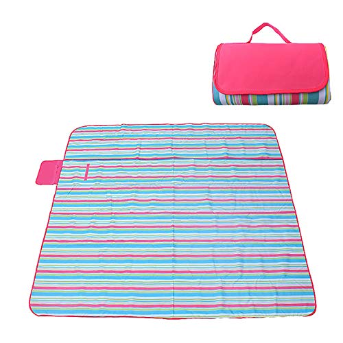 DAZISEN Outdoor Wasserdicht Pad - Draußen Camping Zubehör Baby Kriechende Matte Tragbare Matte Faltbar Matte, Stil 02, S(180 * 145cm)