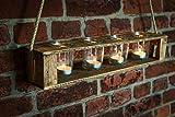 Zu Ostern, Hochzeit, Geburtstag Teelichthalter aus Altholz Holz von Obstkiste mit 4 Gläsern und Tau, Handgefertigt, Windlicht, Kerzenhalter, Laterne, Vintage, Upcycling - 7