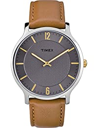 Timex Reloj Analógico para Unisex Adultos de Automático con Correa en Cuero  TW2R49700 cfd0ffc13c1f