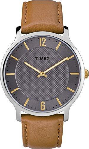 Timex Reloj Analógico para Unisex Adultos de Automático con Correa en Cuero TW2R49700