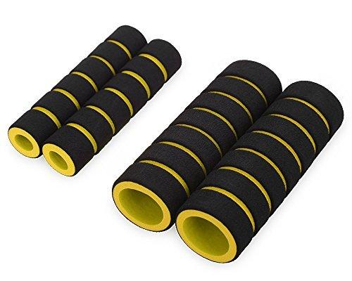 Führen Kinder Schuhe (bazaraz–4in 1Bezug für Motorrad-/Fahrrad-Lenker und Bremshebel–weich–Anti-Schwitz-Effekt, Schaumstoff –Maximaler Grip gelb)