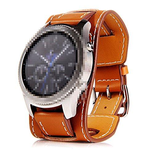 22mm Uhrenarmband Herren Damen Uhrband Ersatzuhr Lederarmband Ersatz-Armbanduhr Uhren Zubehör Watch Band Braun