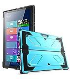 Funda Surface Pro 4, i-Blason Armorbox [Shock Reduction] Carcasa para protección de todo el cuerpo [Kickstand] Protección ligera y resistente para Microsoft Surface Pro 4 (2016) (AZUL)