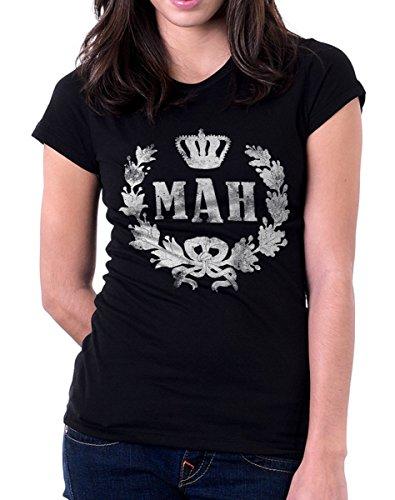 t-shirt humor MAH - stupore, esclamazione - simpatica maglietta by tshirteria nero