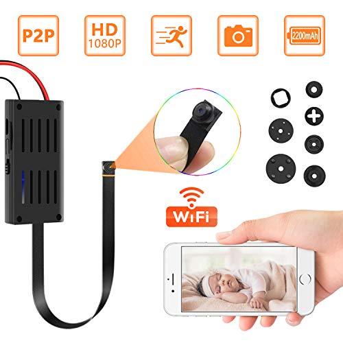Mini Kamera, 1080P Videorecorder Tragbare Klein IP Kamera WLAN Drathlos mit Bewegungsmelder, App Steuerung für IOS und Android MEHRWEG