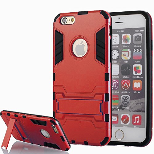 [iPhone 5 hülle] Lantier [High-Quality] [Perfect Fit] [Tire Design Haut] 2 in 1 Combo Rugged Dual Layer [Heavy Duty-Kasten] Abnehmbare Seitenständer [Protective Shell] [Hard Case] ??für iPhone 5 / 5S- rote