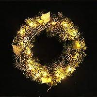 BGHFXS Hotel Decoraciones: Decoraciones de Navidad, guirnaldas, bastón Blanco Ramas, piñones, Agujas de Pino, Arcades Hotel,45 centículos.