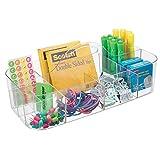 mDesign boite de rangement idéale pour fourniture de bureau - pot a crayon en...
