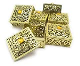 #3: Satyam Kraft Plastic(Pack Of 6) Golden Decorative Box For Storage & Decoration Gift Box For Wedding Box For Storage,Gift (Square)