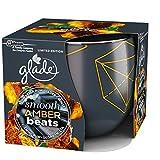 Glade (Brise) Duftkerze bis zu 30 Stunden Brenndauer, Duftkerze im Glas, Smooth Amber Beats, 1er Pack (1 x 120 g)