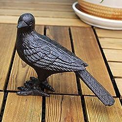 CKH Américain Rétro Créatif Oiseau Maison Minimaliste Porche Magasin Décoration en Fonte Oiseau Salon Mobilier