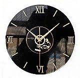 WERLM Personalisiertes Design Home dekorative Wanduhr art Clock\3D Stereo Vinyl CD Album Wanduhr stilvolle und kreative Wall clock ist eine Familie Restaurant küchen Büro Schulen für alle Zimmer sind ideal, 14 Zoll schwarz