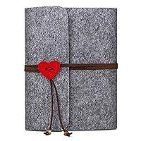 Jooheli Photo Album Scrapbook, DIY Family Photo Album, Felt Cover Photo Album, Wedding Sketchbook Black Pages Travel Anniversary Scrapbook Album Creative Gifts for Valentine