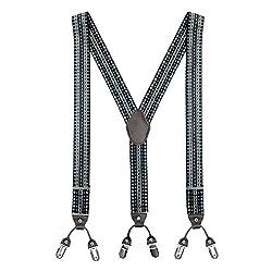 The Tie Hub Boxter Black Printed Y Back Suspender