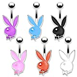 Lot 6 Piercings Nombril Lapin Playboy MATHIS