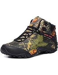 XIANG GUAN Zapatos de deporte y aire libre resistente al agua, botas de invierno para senderismo y montaña Unisex 82289