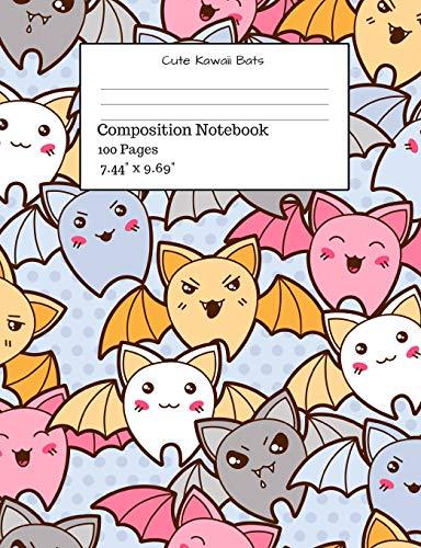 Cute Kawaii Bats Composition Notebook (Clip Halloween Cute Art)