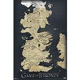 Game Of Thrones Die sieben Königreiche Poster Karte von Westeros Hochformat