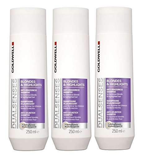 Goldwell punto & Highlights Shampoo 3�x 250�ml Dualsenses anti giallo GW Biondi