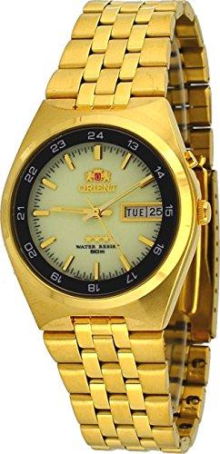 8a45edf26e48 Orient   fem6h00gr Hombre dorado Sport 50 m Tri Star Dial luminoso  autoadhesivo Bobinado Reloj Automático
