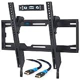 Mounting Dream Support Murale TV Inclinable pour la plupart des Téléviseurs à Écran Plat LED, LCD et Plasma de 26 à 55 pouces jusqu'à VESA 400x400mm et 40kg, Câble HDMI de 6ft Inclus, MD2268-MK-02