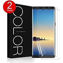 Galaxy Note 8 Protector de Pantalla, [2 Piezas], G-Color, [Ultra Transparente] [Cobertura Completa] [Sin Burbujas] [Anti-arañazos] TPU, NO ES DE CRISTAL TEMPLADO, Protector de Pantalla para Galaxy Note 8