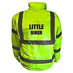 Kids Motorcycle LITTLE BIKER Hi Viz Vis Bomber Jacket Childs Motorbike Reflective Coat Road Safety Biker High Visibility