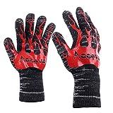 2 guanti da cucina, Accevo guanti da forno con supporto fino a 932 ° F estremi Guanti resistenti al calore guanti griglia esterna del bbq Guanti per la cottura alla brace Scaldare il forno a prova di