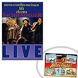 DVD Sachsendreier - Live | GRATIS DDR Geschenkkarte | Ossi Produkte | Geschenkidee für alle Ostalgiker aus Ostdeutschland | DDR Geschenke