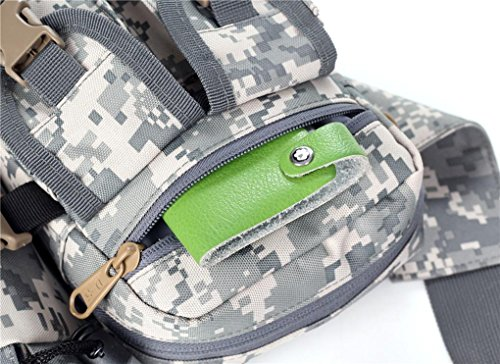 F@20L impermeabile nylon tactical Pocket uomini e fan di donne, sport all'aria aperta e tasche bottiglia d'acqua per il tempo libero e tour in bicicletta salire sul petto piccole tasche Pack , B D