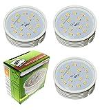 3er Pack ultra flach dimmbare LED Module 3000K warm-weiß nur 30mm Einbautiefe ersetzt GU10 und MR16 Leuchtmittel 3TGMO15SD Trango