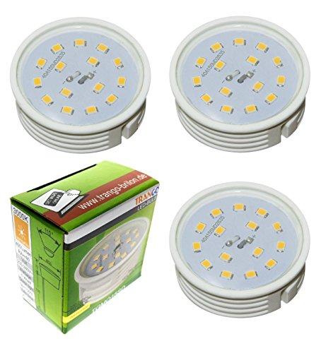 3Pack Ultra Plano regulable LED Module 3000K Cálida de color blanco solo...