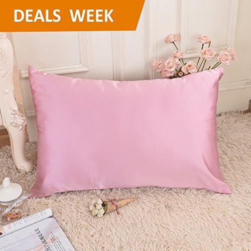 Tiffany Natur Rose (Home Brilliant Ultra Soft Satin Kissenbezüge für Haar, Fleck/Falten/farbbeständig, Satin, rose pink, Queen/Standard)