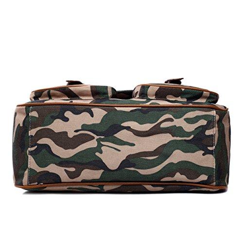 Miss Lulu , Damen Umhängetasche Einheitsgröße Camouflage Khaki