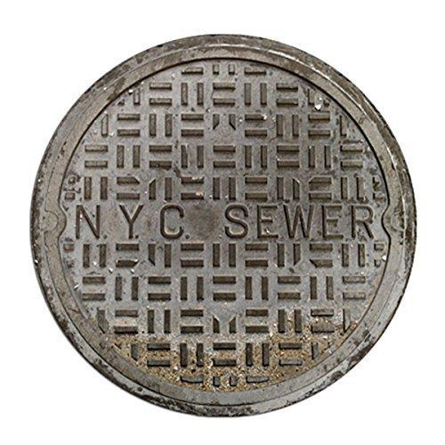 Unbekannt Funny Fußmatten Kanalisation, Welcome Fußmatte NYC Kanalisation 2Füße Rund