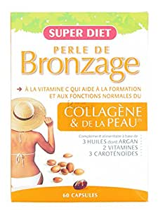 Super diet - Perle de bronzage (ex ultratan) - 60 capsules molles - Bronzage intense