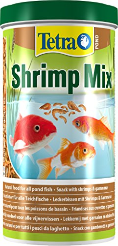 Tetra Pond Shrimp Mix Ergänzungsfutter (Leckerbissen für Teichfische aus natürlichen Shrimps und Gammarus, schwimmfähige Futtermischung), 1 Liter Dose - 4