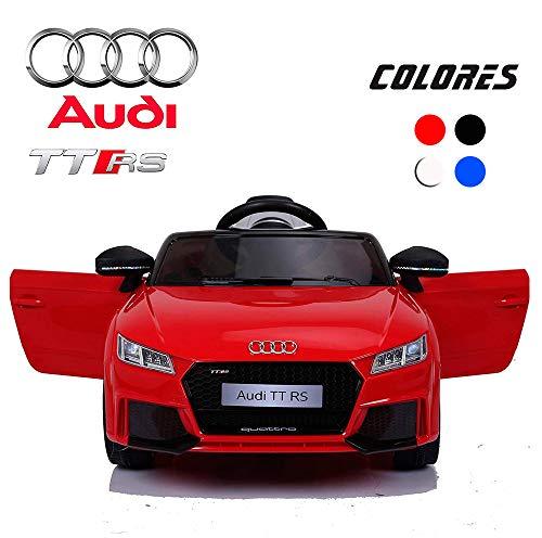 BC Babycoches-Coches eléctricos para niños 12 V, Licencia Oficial Audi TT RS, Mando Parental, monoplaza, Equipo Audio, Color Rojo