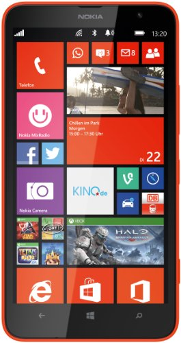 Nokia Lumia 1320 Smartphone (6 Zoll (15,2 cm) Touch-Display, 8 GB Speicher, Windows 8) orange (Lumia 1320 Nokia Orange)
