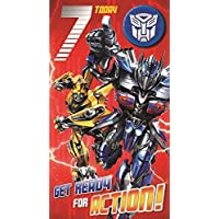 Transformers Age 7 Badged Birthday Card