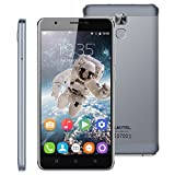 SIM-Free Unlocked 4G Smartphone, 6� OUKITEL U16 Max Android 7.0 MT6753 Octa-Core 3G RAM + 32G ROM Dual SIM Card Mobile Phone with Dual Camera(13.0MP+5.0MP) Fingerprint GPS WIFI HotKnot Cellphone (Grey)