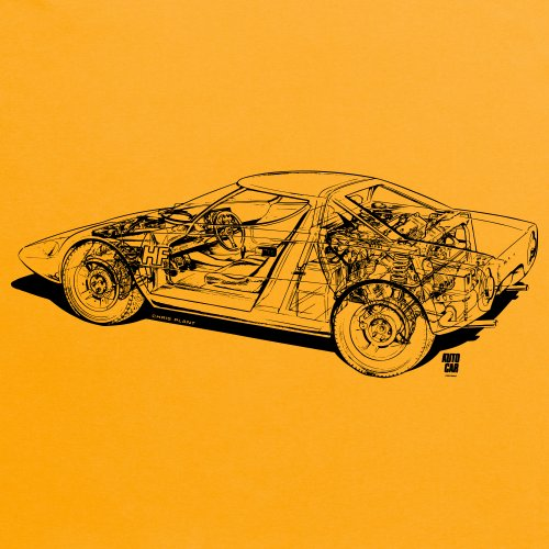 Lancia Stratos Cutaway T-Shirt, Damen Gelb