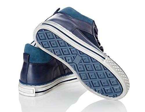 RED WAGON Baskets Montantes Garçon Bleu (Blue)
