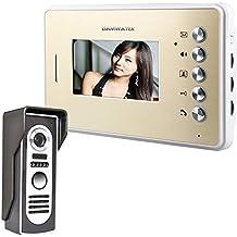 """GAMWATER 4.3 """" video Door phone Doorbell Intercom Kit 1-cámara con cable con 1-monitor visión nocturna"""