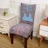 Elastische Stuhlabdeckung für Computer/Esszimmer / Küche/Büro Bunte Gedruckt Stuhlbezüge Spandex Sitzbezug Hochzeit chengbao Universal Size